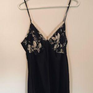 Secret treasure long black slip dress size large